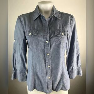 Theory Chambray Button Down Shirt